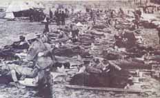 أحد معسكرات لاجئي الحرب العالمية الأولى