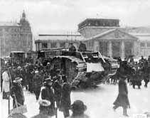 استعملت الدبابة لأول مرة في الحرب العالمية الأولى