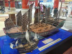 مجسم يطابق سفن زهنغ زهي بحجم سفن كولومبوس
