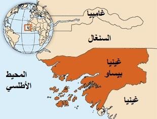 خريطة غينيا بيساو
