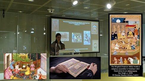 دور المرأة في فنون الكتب في العالم الإسلامي