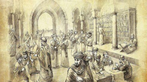 لوحة لبيت الحكمة في بغداد