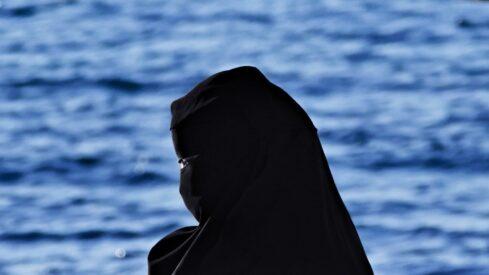 A muslim woman using hijab