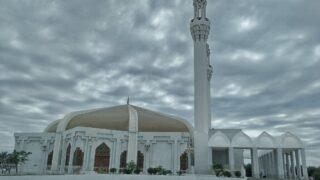 Minaret of modern mosque