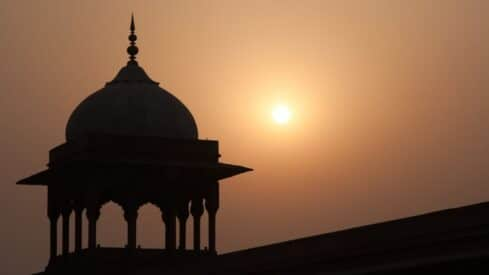 The minaret of Mosque