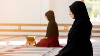 Muslim women observing Salah