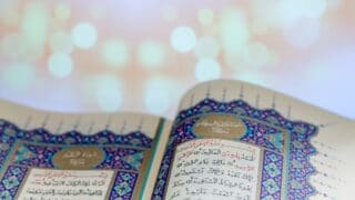 reading the pages of Quran