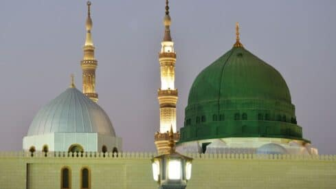 the dome of Madinah's holy mosque