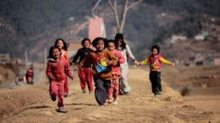 group of children at playing area
